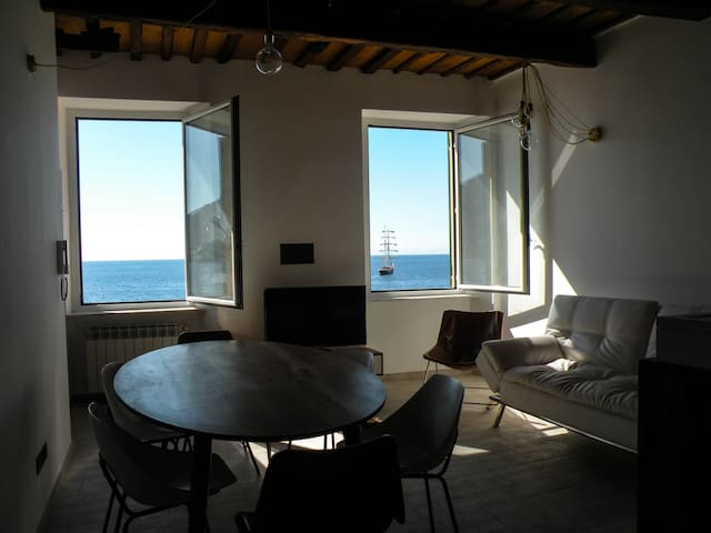 Due splendide finestre sul mare con giardino - Camogli - Pis