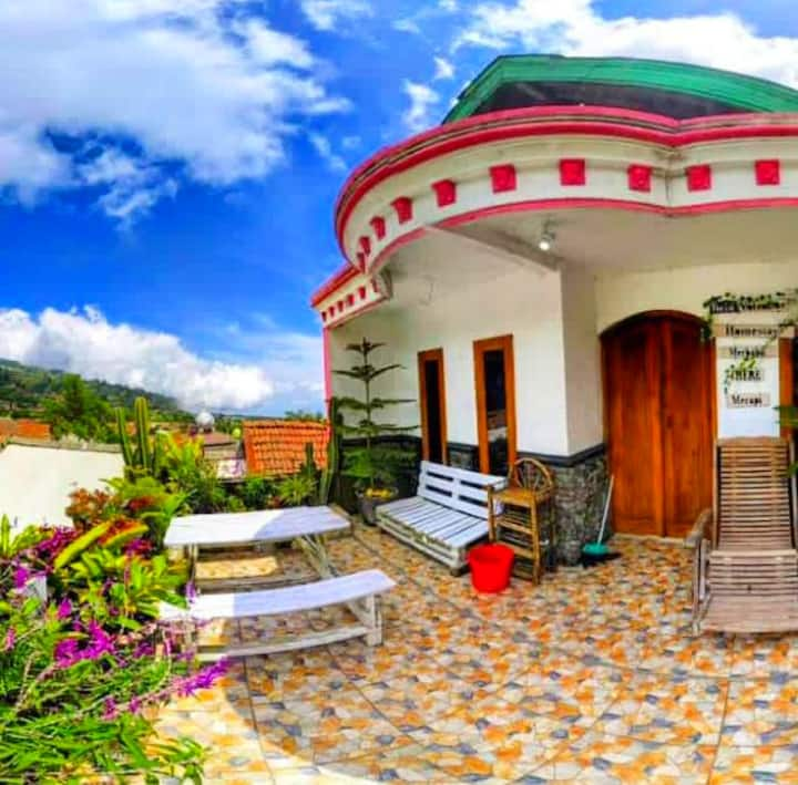 Twin Volcanoes Bnb || Villa homestay with balcony