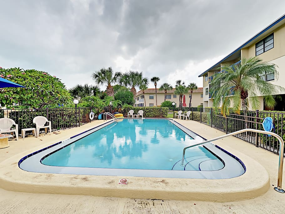 Take your pick of the on-site pool or nearby beach.