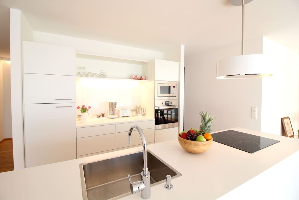 The kitchen is very new and fully equipped