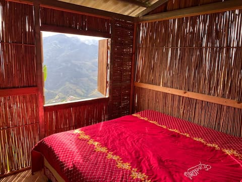 Terraced rice field view room