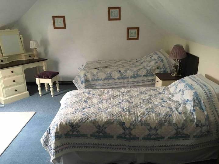 Twin bedroom in Comfortable Family Home