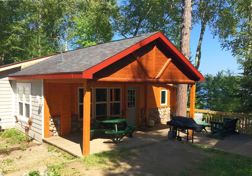 Remodeled lake cabin wifi tv fire pit dock cabins for for Cabins for rent in minnesota