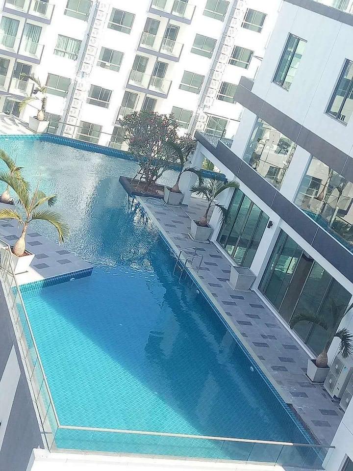 超美景观,芭提雅Arcadia Beach Resort-B 一房一厅双泳池景
