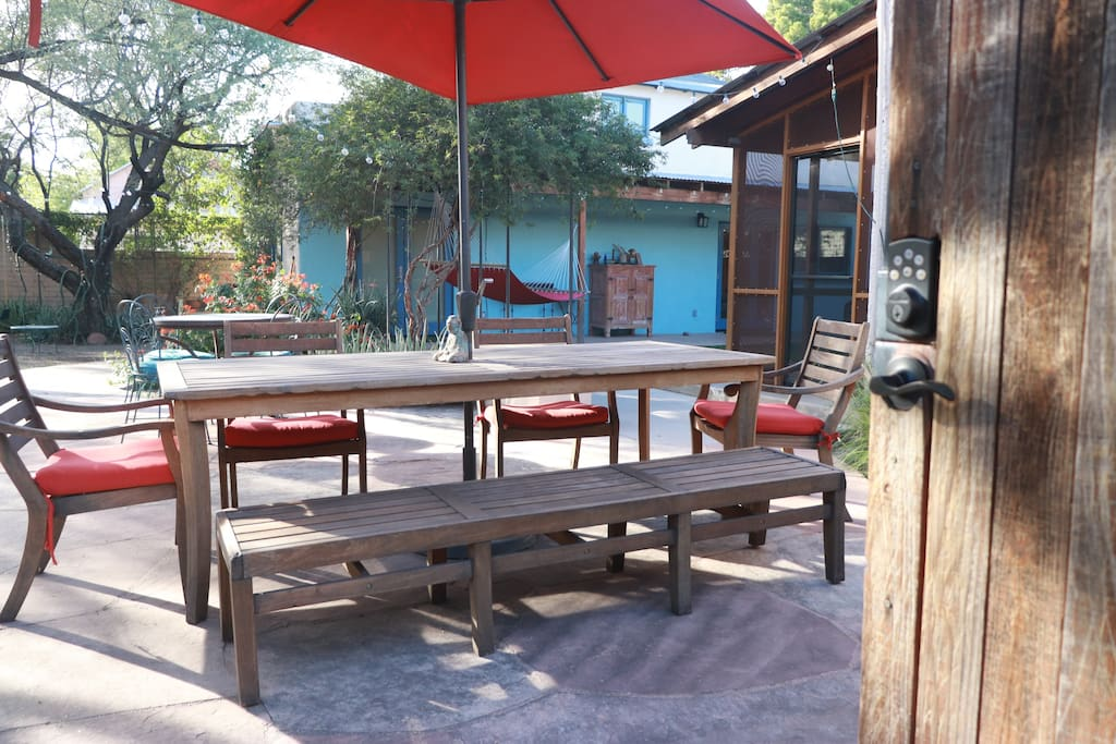 patio, porch and desert climate allow for indoor/outdoor living all year round