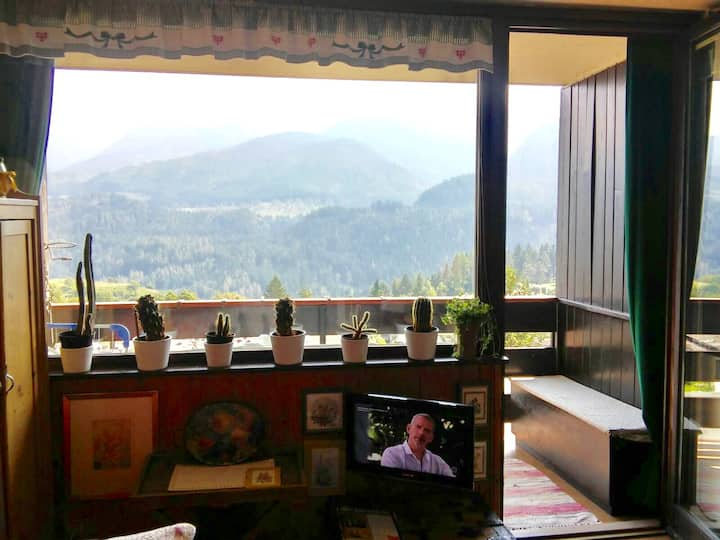 Appartamento in centro e con vista Dolomiti