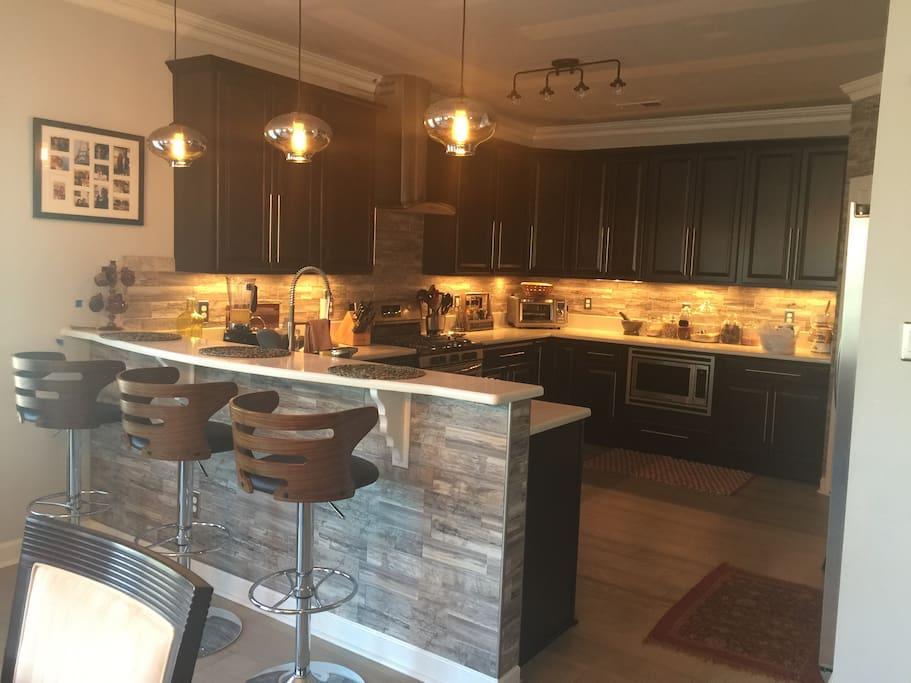Access to modern kitchen custom kitchen