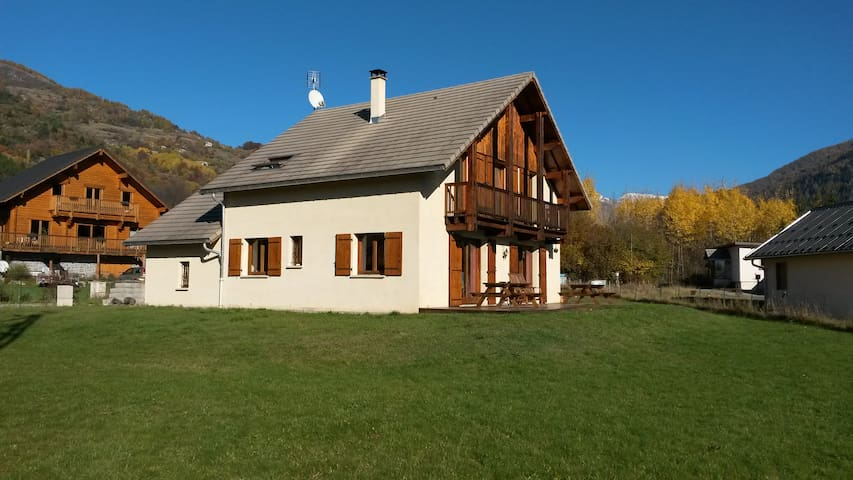 Chalet ensoleillée, vue sur les montagnes à 360° - Saint-Jean-Saint-Nicolas - Casa