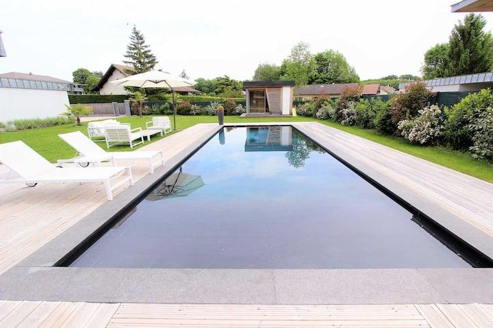 Superbe villa d'architecte a 2km de Geneve