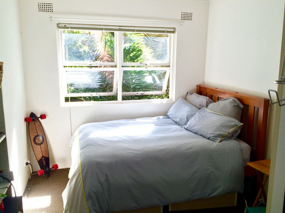 Bedroom with Comfertable Cussion-Top Double Bed