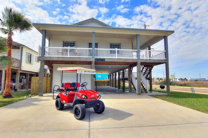 Shamrock by the Sea: Boardwalk to Beach, PRIVATE POOL, Free Golf Cart