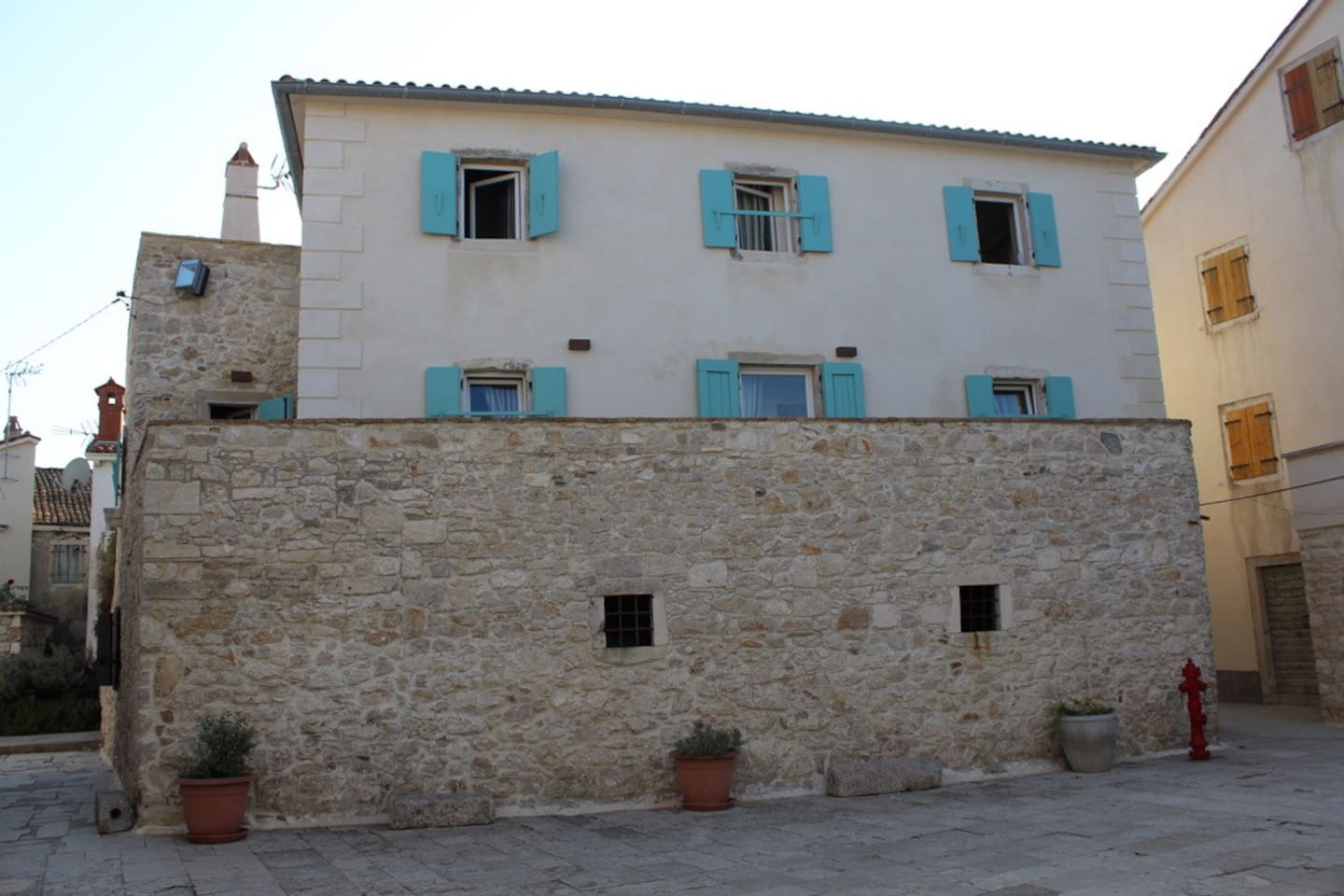 The Wine Cellar on the ground floor and the Apartments on the upper floors.