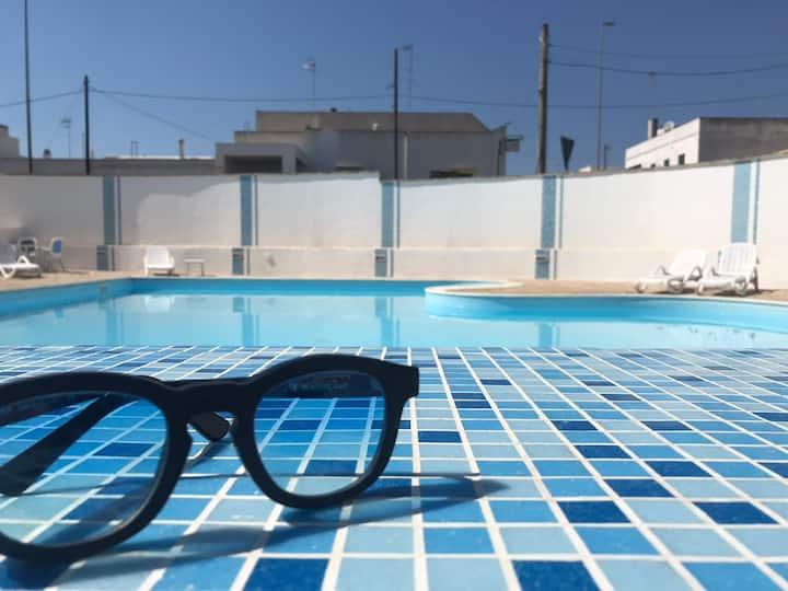 Appartamento Azzurro in residence con piscina