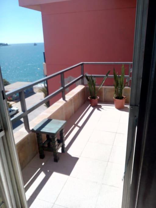 terraza con hermosas vistas
