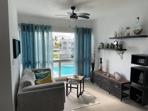 Vista à Piscina Beach Residence / Acesso Privado à Praia