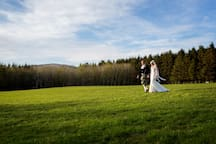 Walking through the windmill field on our wedding day - Shiel is very special to us. We hope you will enjoy it too!