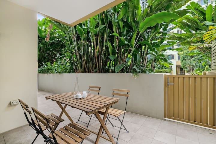 Your private courtyard is the perfect spot for breakfast