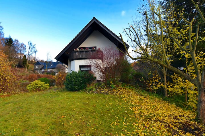Very cosy holiday home in Olsberg with wood stove, garden, balcony and carport