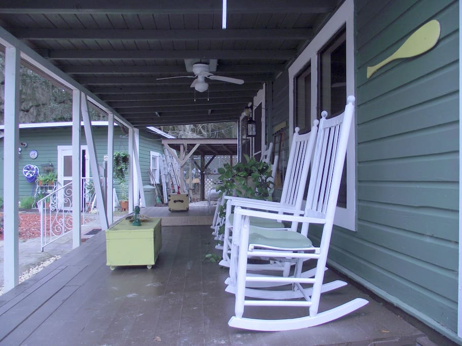 Back porch rocking chairs....