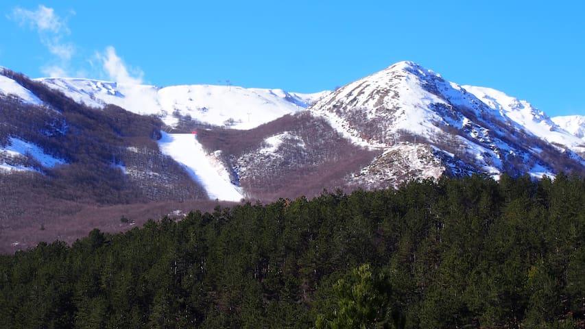 A1 km dalle piste da sci panoramico - Ovindoli