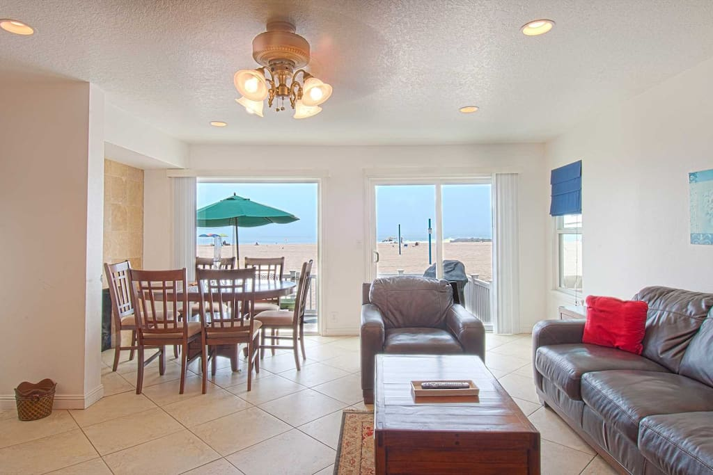 Family - Dining area showing view to the beach