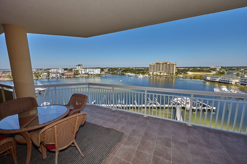 Large balcony with a fantastic view