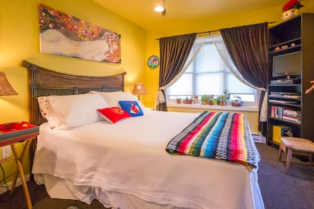 Secluded full suite Mexican decor - West Grove - Rumah