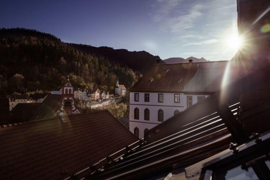 Beste Sicht bis über den Lech auf die Via Claudia