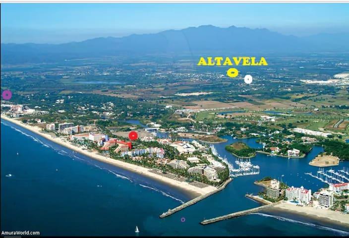 DPTO ALTAVELA 2 a 10 Min del Mar, Wifi, Smartv,A/A