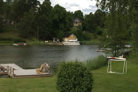 House by the ocean in Stockholm archipelago.