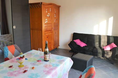 Small house, garden and terrace.Safe parking.WIFI
