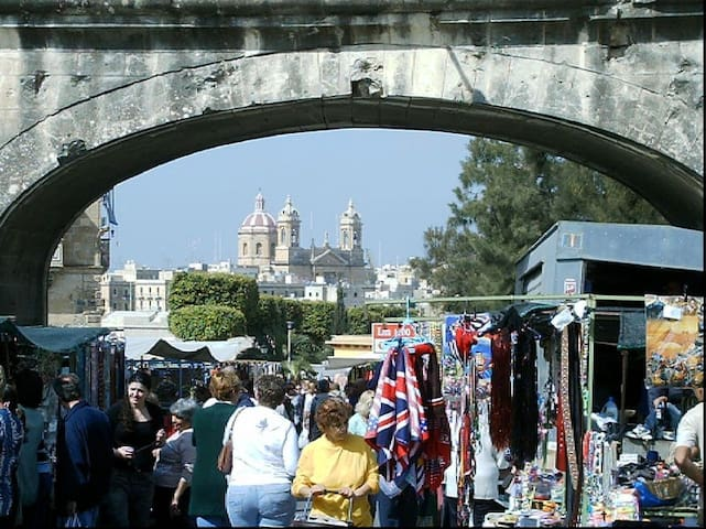 Traditional & colourful street market - Tuesday mornings - just around the corner from apartment - grab a bargain, taste Maltese traditional food, mix with the locals!