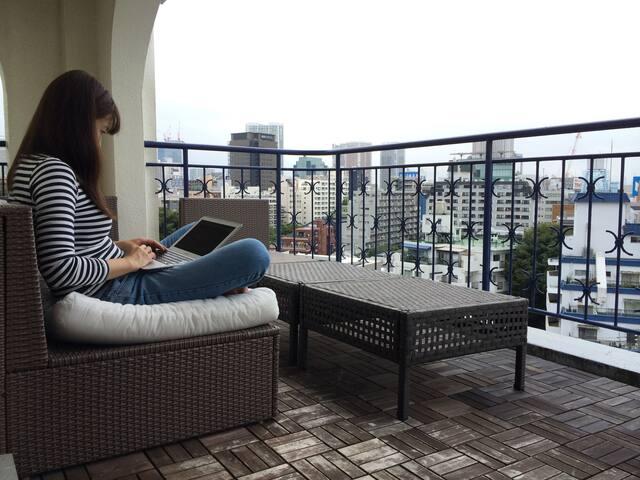 Large Bright &Quiet Central Tokyo Penthouse 109sqm