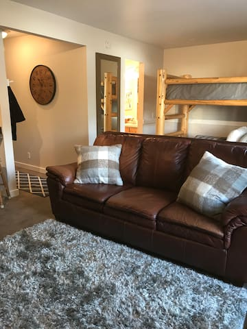 DOWNTOWN STUDIO sleeps 5 w/views of Bald Mountain