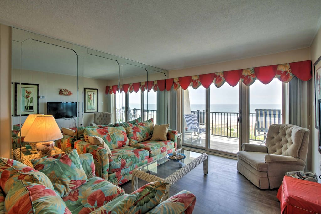 The lovely condo boasts 1,200 square feet of comfortable living space.