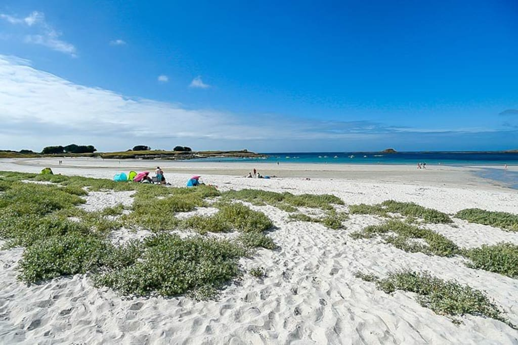Plage de Tréompan - Ploudamézeau, - Brittany, The closest beach to our property less than 10min stroll from the door to the beautiful white sandy dunes and beach.