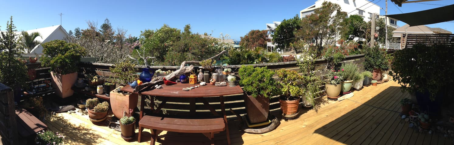Sundrenched deck