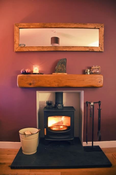 There will always be logs available for you to keep cosy by our wood burning stove.