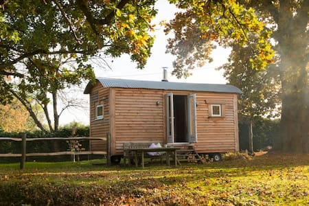 Large Shepherd's Hut with own Bathroom & Kitchen - West Sussex - Chata