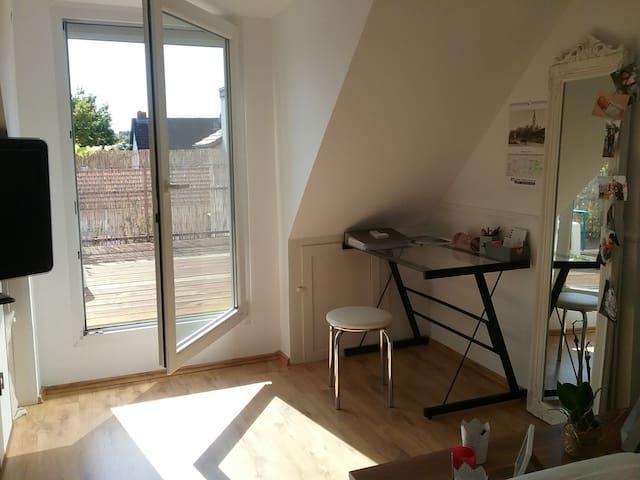 Helles Zimmer mit Dachterrasse zentral in Hofheim