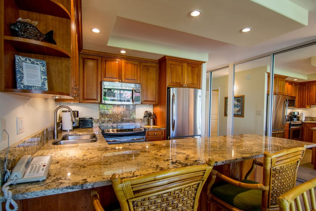 Fully remodeled and equipped kitchen
