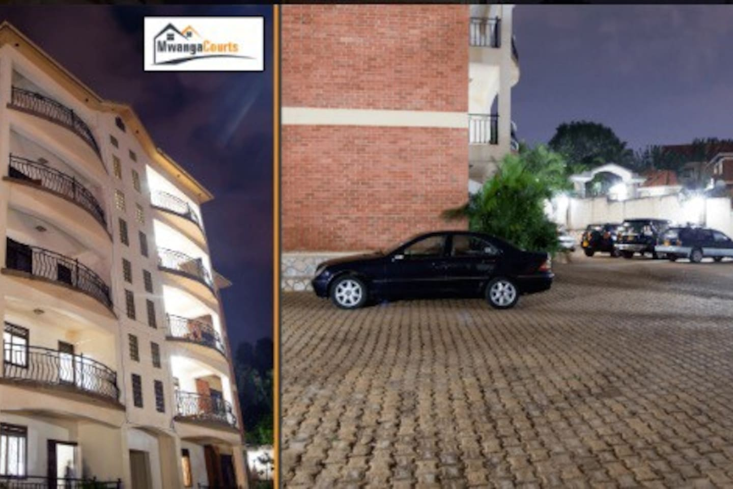 Mwanga Courts is located (6)six kilometers from the city centre in the upscale suburbs of Muyenga. We offer comfort, luxury and security suitable for our guests. Our guests include expatriates, returning nationals, families on holiday, persons on business trips as well as tourists. The apartments are suitable for families with children as well as single persons. You are welcome to join us on a short or long term home away from home experience.  We have eight two bedroom and two one bedroom modern fully furnished apartments. Mwanga courts are conveniently near public transport, hospitals, institutions, restaurants and shopping centre. We are located in a residential area thus ensure a calm, private and secure neighborhood.