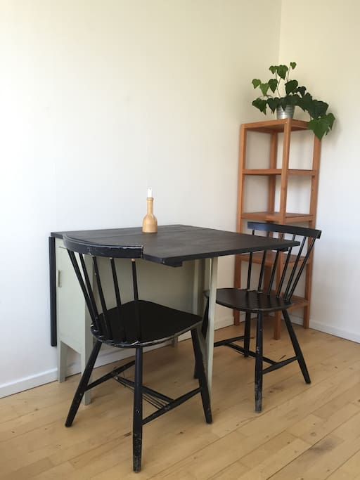 Table in bedroom