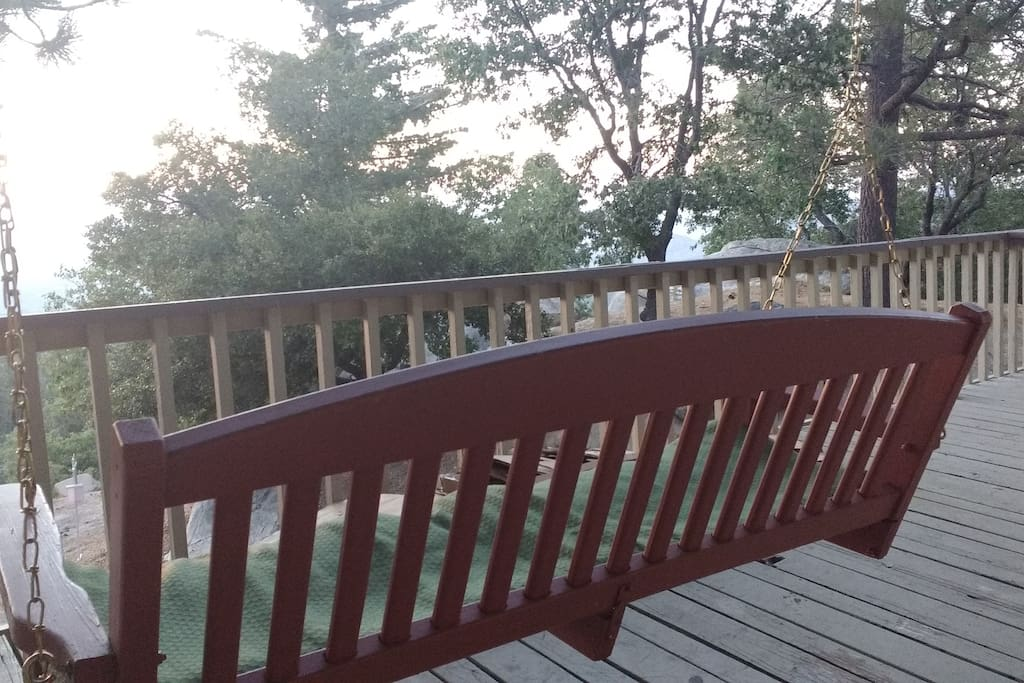 Porch swing with a view.