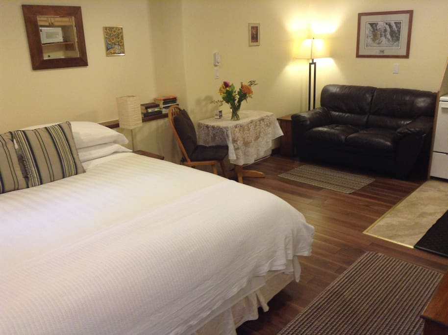Studio Suite - Non smoking. Standard is king bed.  Request 2 twin beds for additional $90 fee.