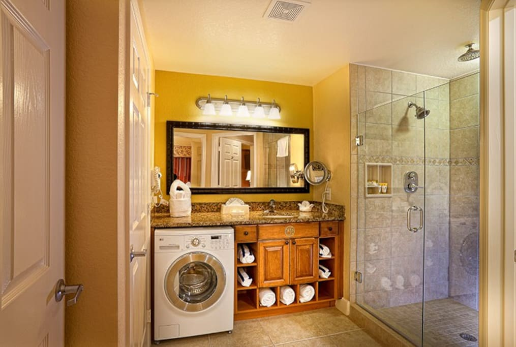 Washer & Dryer in your unit.
