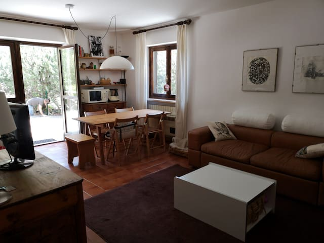Apartment courtyard and parking in Sauze d'Oulx