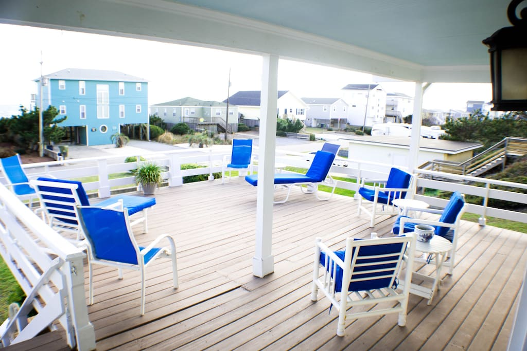 Best deck on the beach with covered porch