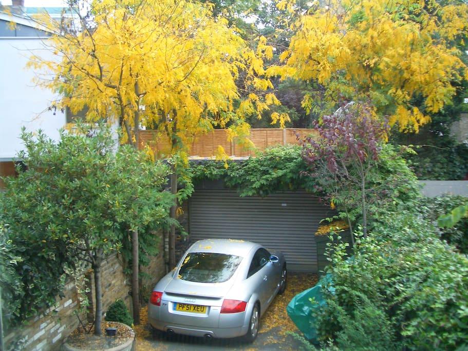 garden and car space