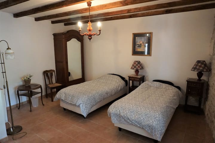 Bedroom 2: (downstairs) as twin beds or double